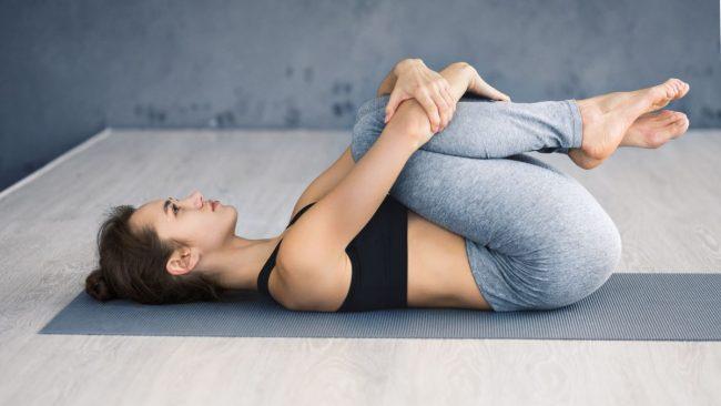 Apanasana yoga pose for farting